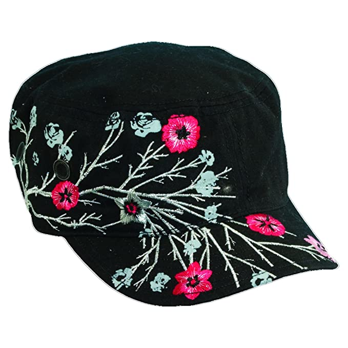 c402f9f9b Scala Pronto Women's Cadet With Flower Embroidery Cap