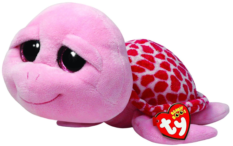 Ty Shellby Buddy - Tortuga de peluche (24 cm, tamaño grande), color rosa - Peluche Beanie Boos Tortuga Shellby 23cm, Juguete Peluche Beanie Boos Primera ...