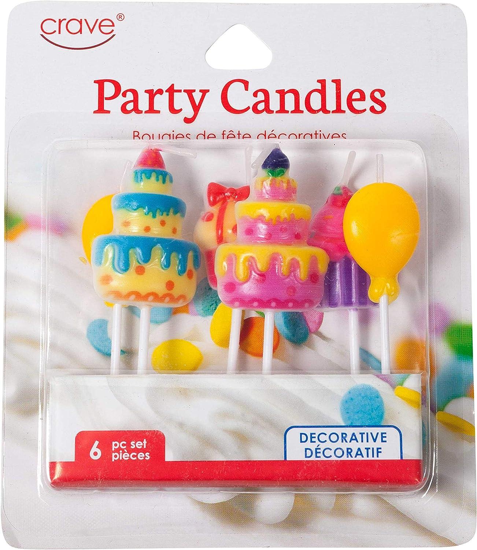 Numéro 6 6th Bougies 12 Designs Birthday Cake Topper Décoration Fête
