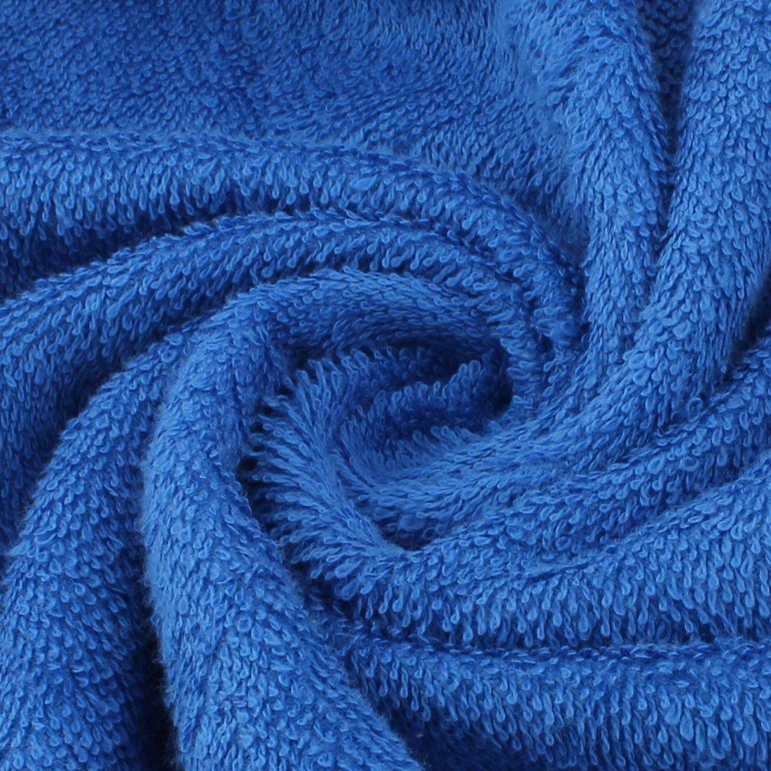 eDealMax douce Terry Home Spa Plage Hôtel Rectangle Forme Douche Serviette de bain 148 x 80 cm Bleu