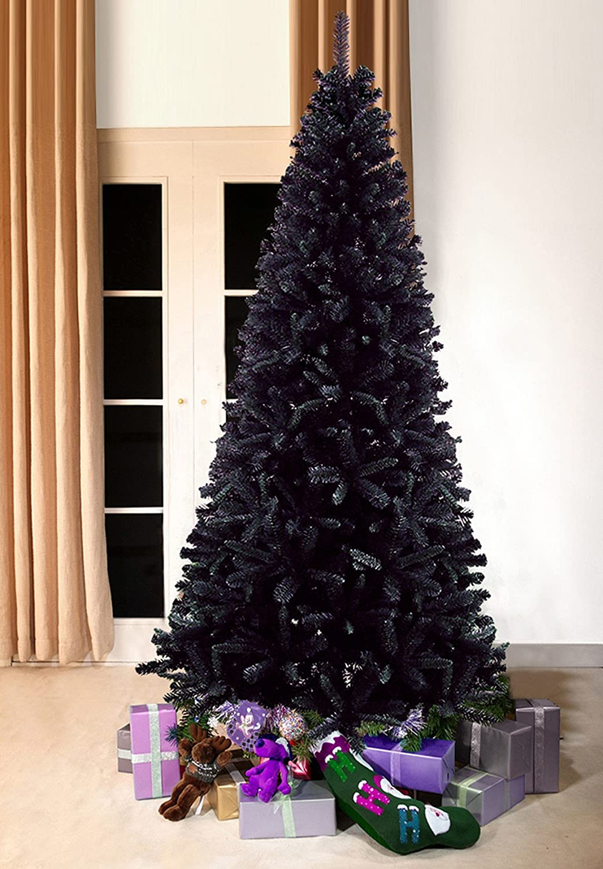 Contemporary Christmas Trees Uk.Modern Slimline Artificial Christmas Trees Black Bergen