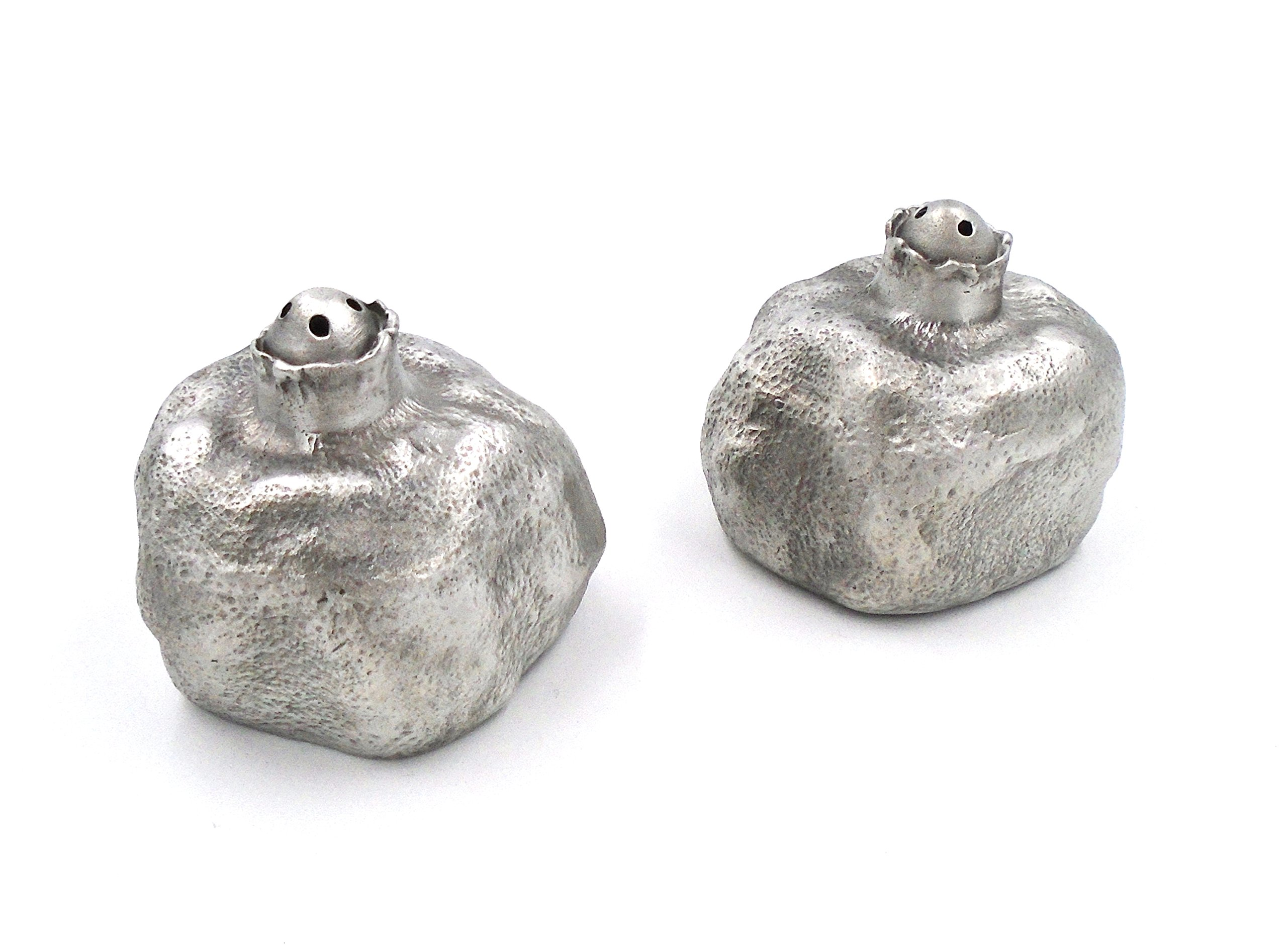 ''Pomegranate'' Salt & Pepper Shakers by Michael Michaud for Silver Seasons Table Art