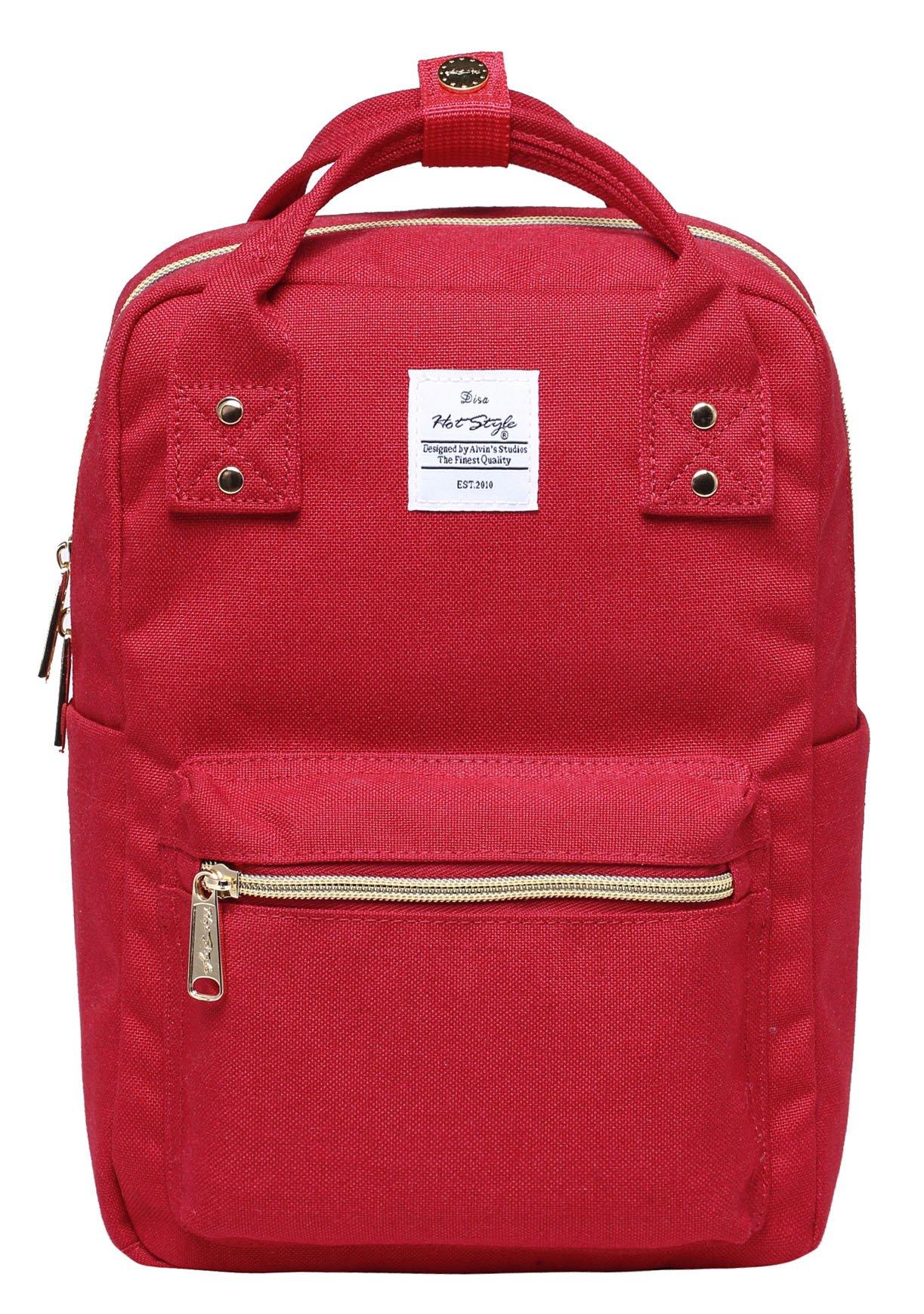 DISA MINI Small Backpack Purse | Fits 10-inch iPad | 11.6''x8''x4.5'' | Red