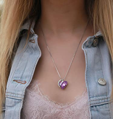Infinity Love Heart Pendant Necklace - Prom Dress Hut