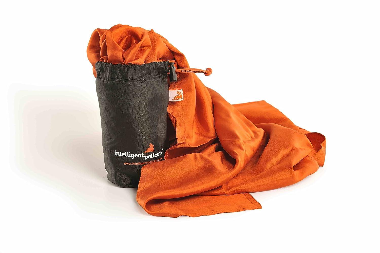 backpacking perfect for hiking outdoor activities Silkrafox XL artificial silk inlett super-king-sized ultralight sleeping bag liner