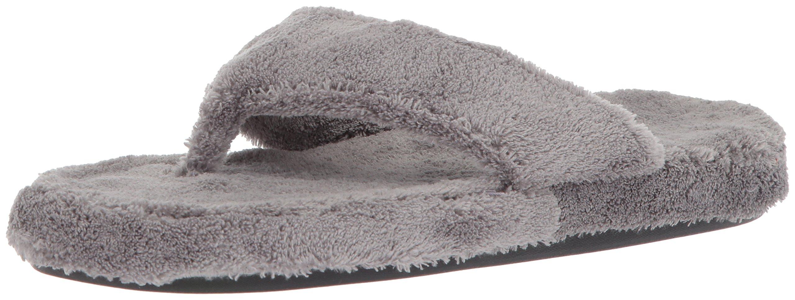 Acorn Women's Spa Thong Slipper, Grey, Large/8-9 B(M) US by Acorn