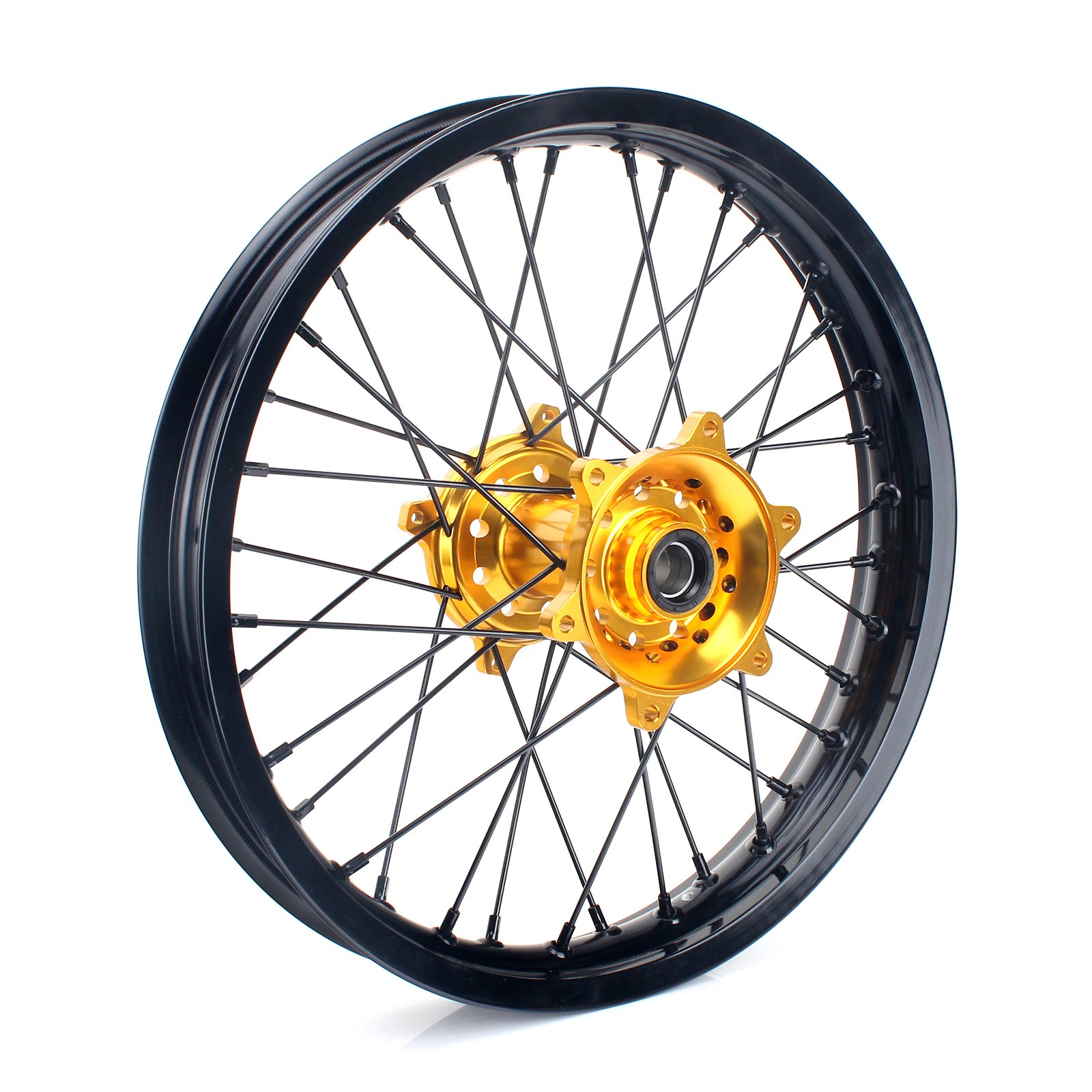 TARAZON 18 x 2.15 MX Rear Complete Wheel Kit Rim Spokes Gold Hub for Suzuki RMZ250 2007-2016 RMZ450 2005-2016
