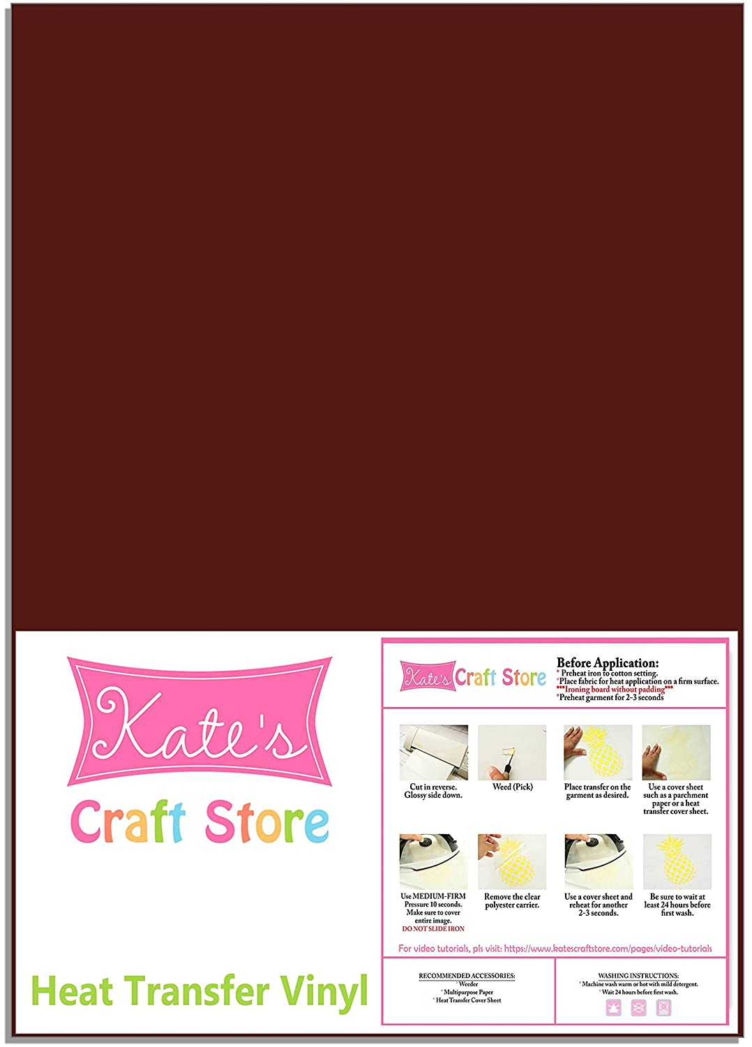 Iron on for Silhouette Cameo Hats and Any Fabric FilmTailor 10 x 12 Heat Transfer Vinyl Basic 5 Sheets Excellent for T-Shirt PU HTV Neon Orange Cricut Heat Press Machines
