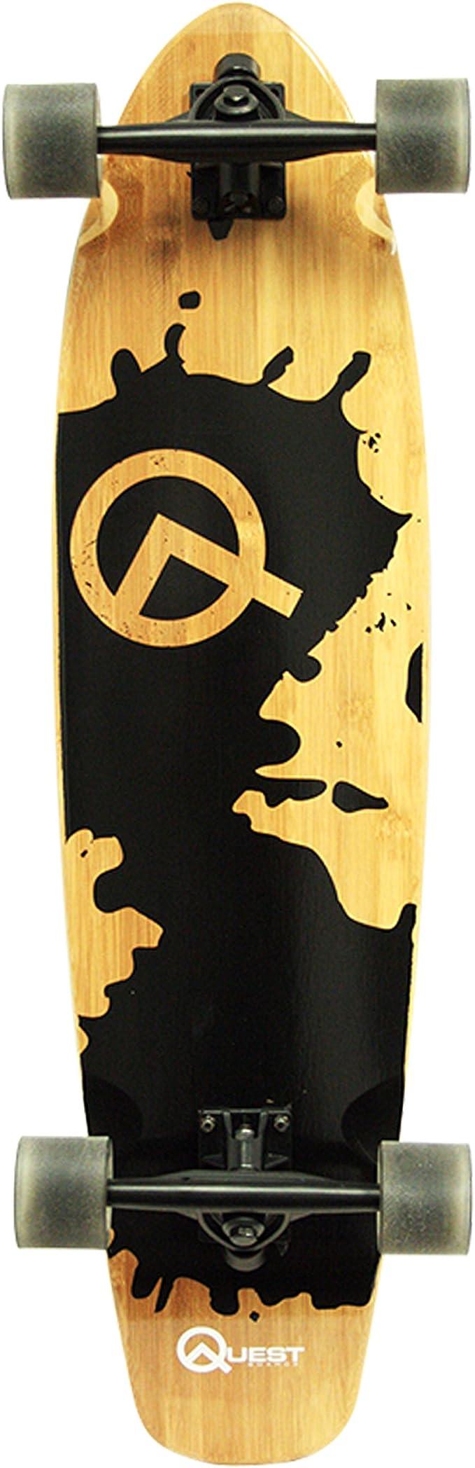Drop-Through Freeride Cruiser Boards 9 Strati di Acero Canadese con Lo Strumento-T Opzionale Ruota a LED Cuscinetti a Sfera ABEC High Speed WRISCG Longboard Skateboard 120/×23cm Tavola Completa