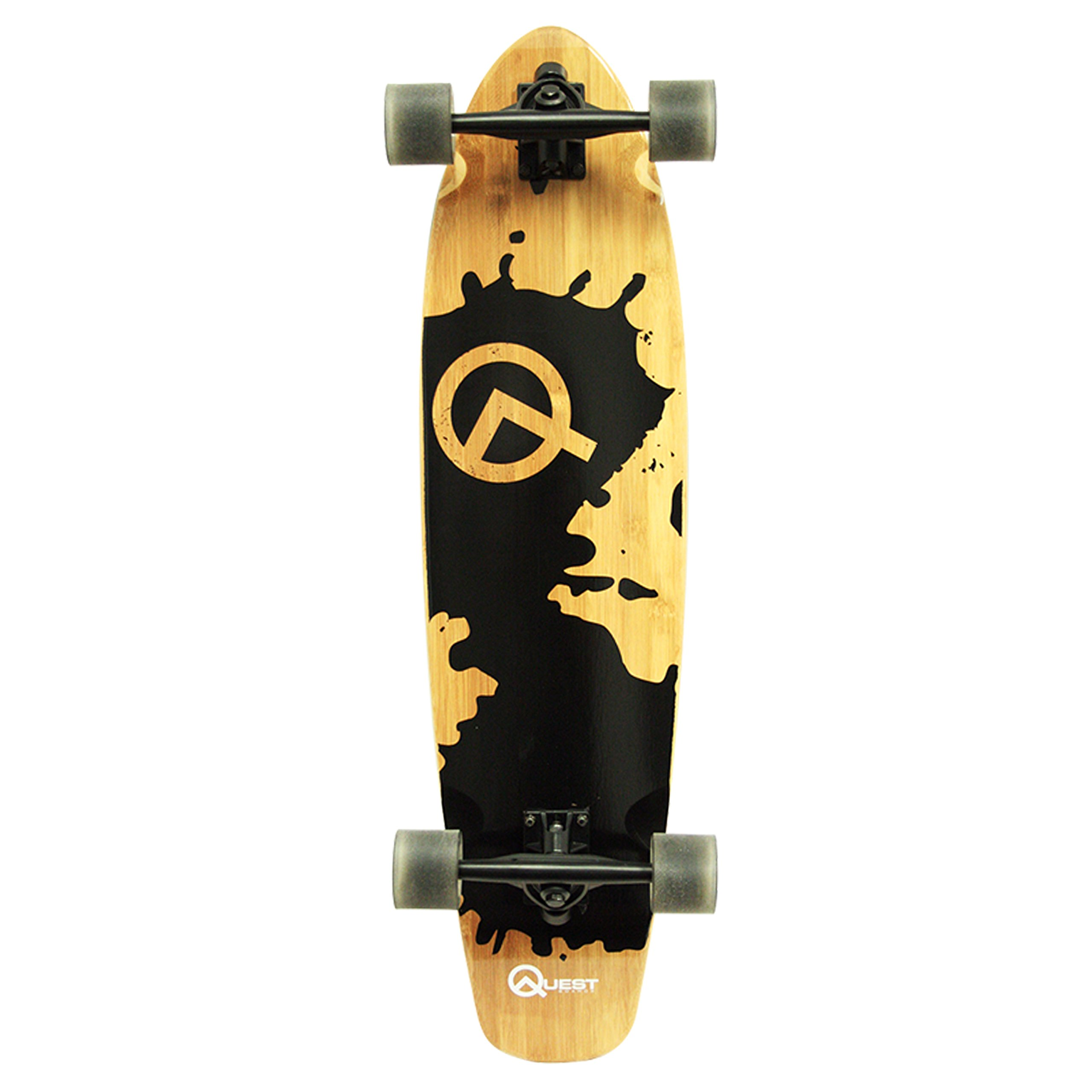 Quest Rorshack Bamboo Longboard Skateboard (34-Inch) by Quest