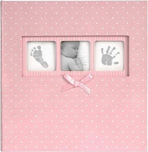 Innova 50-página Bebé Niña Rosa Lunares libro Bound tradicional álbum 200 6x4