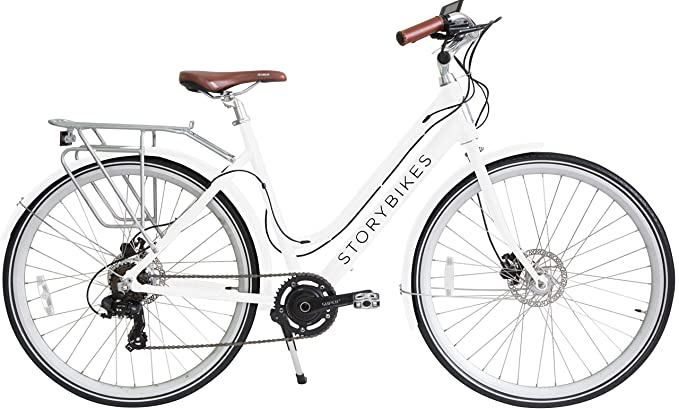 Story Electric Bike   E Bike With Smart 350 W Electronic Motor, Hidden Lithium Battery, Usb Port To Charge Phone, Shimano Gears, Disc Brakes, 700c Unisex Hybrid Electric Bicycle by Story Bicycles
