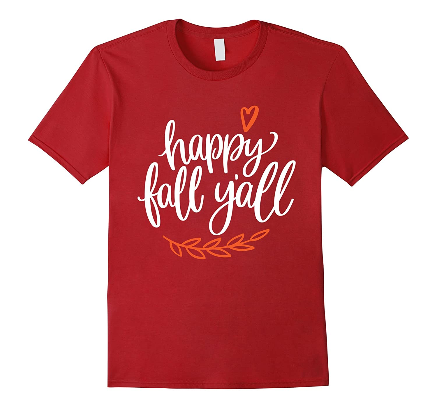 Happy Fall Y'all Cute T-Shirt-FL