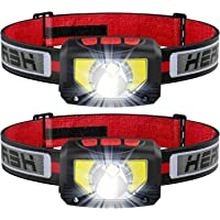 TINMIU Rechargeable LED Headlamp Flashlight, 2-PACK 1000 Lumen Super Bright Motion Sensor Head Lamp, IPX5 Waterproof…