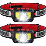 TINMIU Rechargeable LED Headlamp Flashlight, 2-PACK 1000 Lumen Super Bright Motion Sensor Head Lamp, IPX5 Waterproof, Bright