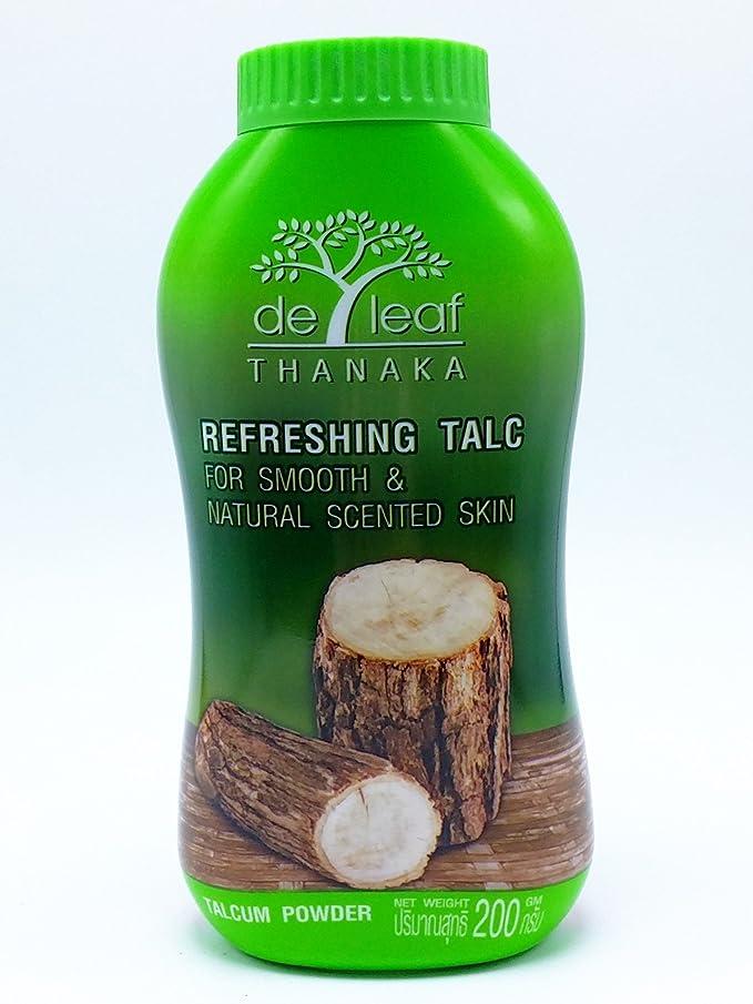 Amazing De Leaf Thanaka Refreshing Talcum Powder for Smooth & Natural Scented Skin Net Weight 200g X 2 Bottles