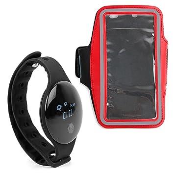 DURAGADGET Reloj/Pulsera de Actividad + Brazalete Deportivo Rojo para Smartphone Huawei P10 Plus, Huawei P10, Huawei P8 Lite (2017), Huawei Y6: Amazon.es: ...