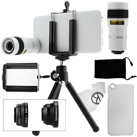 Juego de Lentes para Camara iPhone 6 / 6S, incluye Lente Telefoto 8x / Lente Ojo de Pez ...