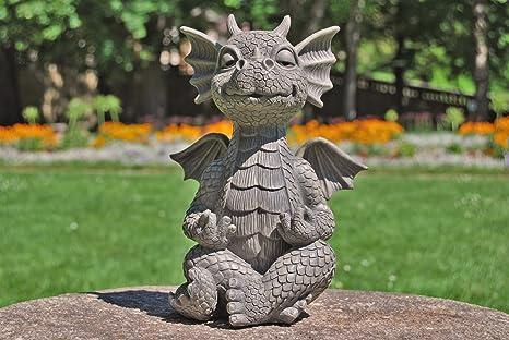 Décoration d\'extérieur Figure de jardin Dragon Yoga médite ...