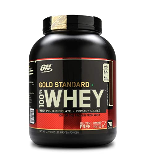 4871fdb62 Optimum Nutrition (ON) Gold Standard 100% Whey Protein Powder - 5 ...