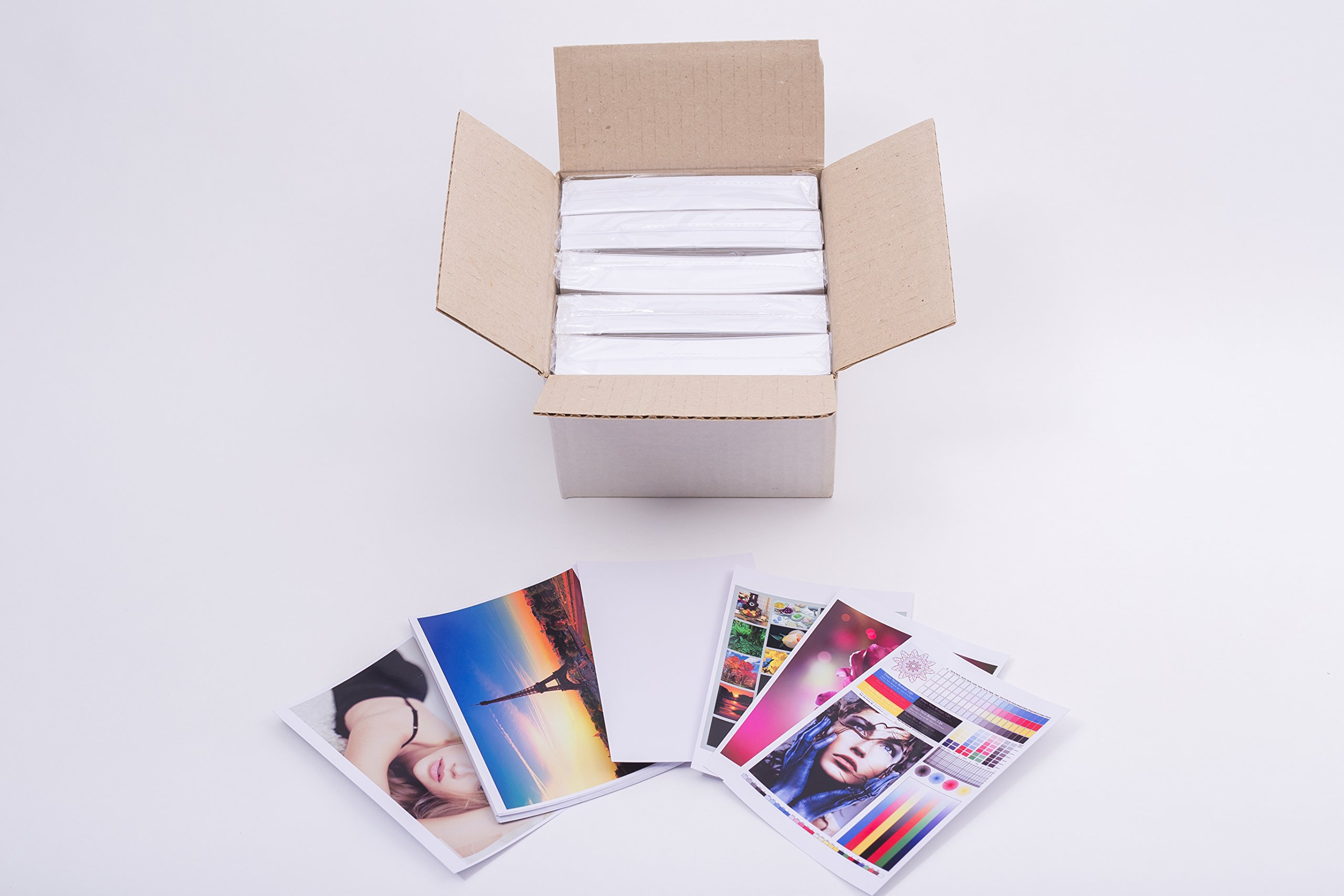 Matte photopaper 500 sheets ECO pack for inkjet printers 4x6 inches 9,5 mil, 230gsm with backprint