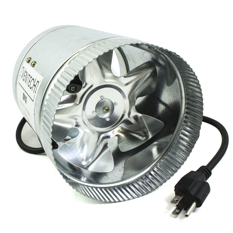 VenTech VT DF-6 DF6 Duct Fan, 240 CFM, 6''