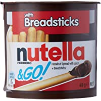 Nutella & Go Hazelnut Spread with Cocoa and Breadsticks, 24 x 48 Grams