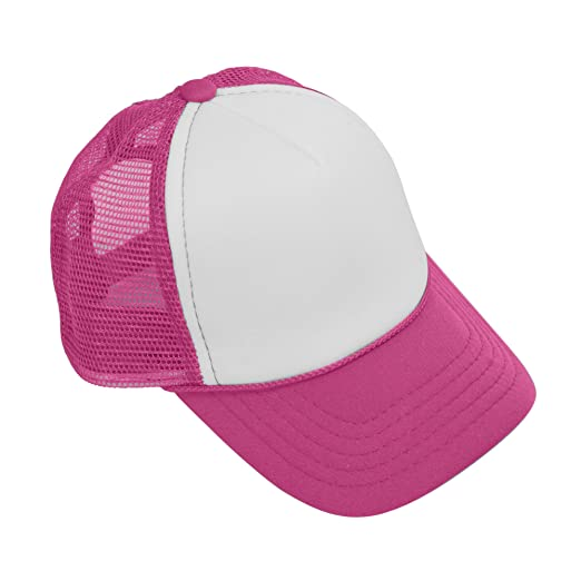 af8a55c9b09fa DALIX Baby Girls Boys Trucker Caps Toddler Hats Childrens Infant Hat Hot  Pink White