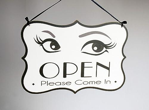 Open/Closed - o abierto cerrado cartel de sal doble placa ...