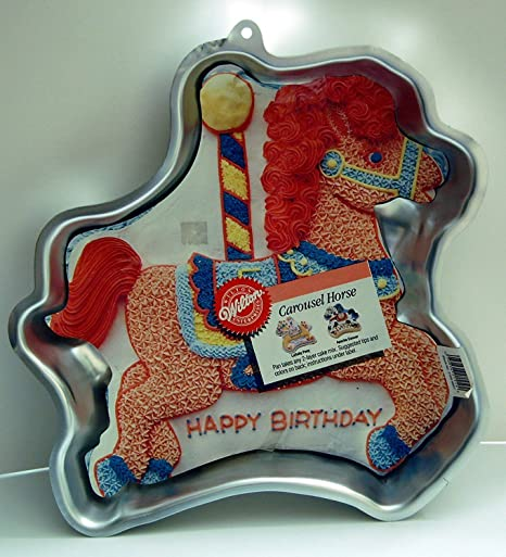 Amazon Wilton Cake Pan Carousel Horse 2105 6507 1990
