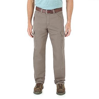 a0139084 Wrangler Men's Riggs Workwear Cool Vantage Ripstop Cargo, bark, 30x30