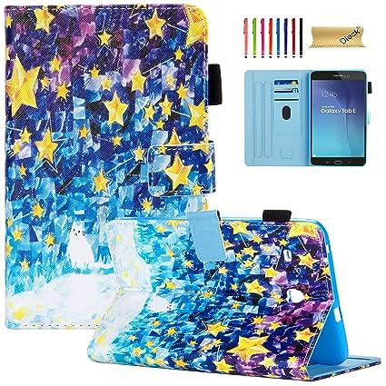 Amazon.com: Dteck - Funda con tapa para Samsung Galaxy Tab E ...