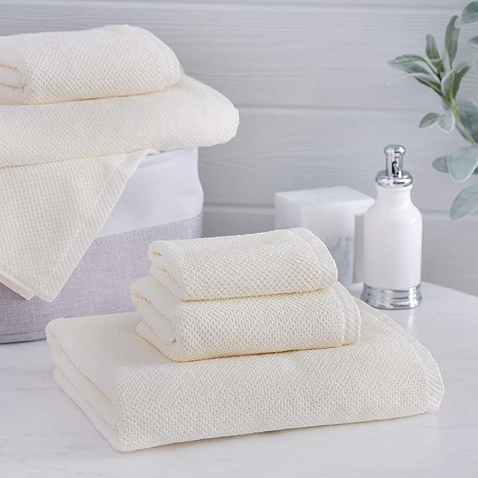 金盒特价 Welhome Franklin 毛巾+浴巾+擦手巾6件套 $30.99 多色可选 海淘转运到手约¥341 中亚Prime会员可免运费直邮到手约¥364