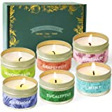 SCENTORINI Scented Candles, Scented Candle Gift Set, Soy Wax Candles, Essential Oils Added Candles Gift Set, 6 x 2.5 oz, Mint