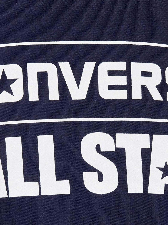 Converse Felpa Unise Nuova Collezione 18//19 100/% Made in Italy Stampa Petto all Star Girocollo