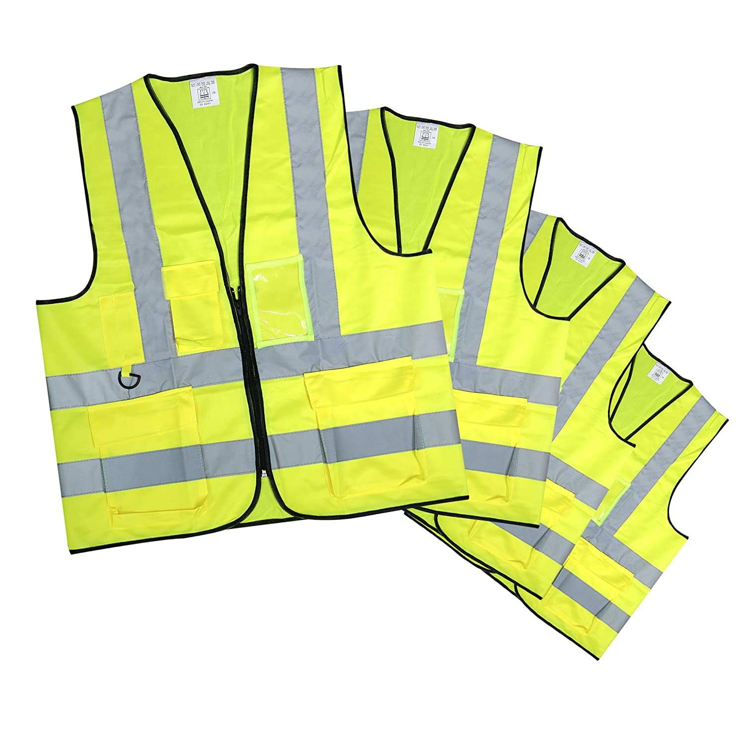 One Size Fits All Yellow Robelli Adult Hi-Vis Safety Vest
