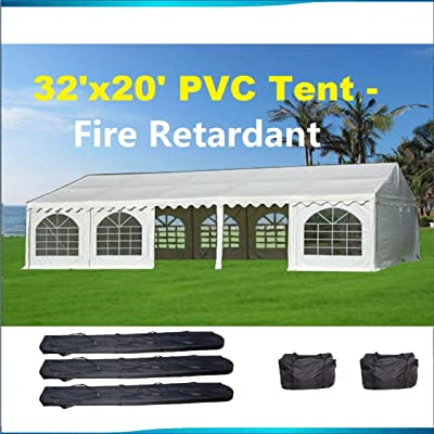 Delta Canopies 32'x20' PVC Party Tent (FR) Wedding Canopy Shelter White - Fire Retardant : Garden & Outdoor