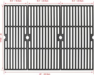 Hisencn Cast Iron Cooking Grids Grates 18'' for Charbroil Performance 463377017, 463347017, 463376018P2, 463376117, 463377117, 463673617 4-Burner 475 Cart Liquid Propane Gas Grill, 5-Burner 463347519