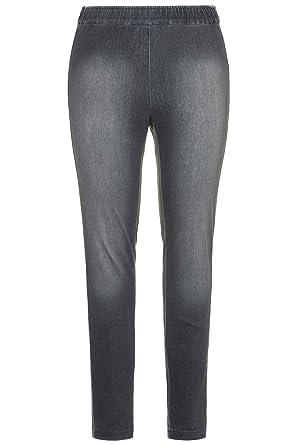 f5149a5fead Ulla Popken Women s Plus Size Comfortable Knit Jeggings Light Grey Melange  20 717494 13-46