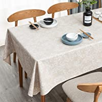 LEEVAN Vinyl Tablecloth Heavy Weight PVC Rectangle Table Cover 100% Waterproof Oil-Proof Stain-Resistant Table Cloth for…