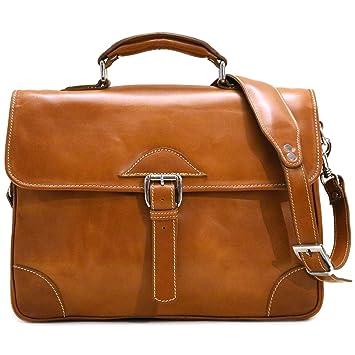 45d8d81c9 Amazon.com   Floto Cortona Roller Buckle Briefcase Messenger Bag in Brown  Tempesti Leather   Messenger Bags