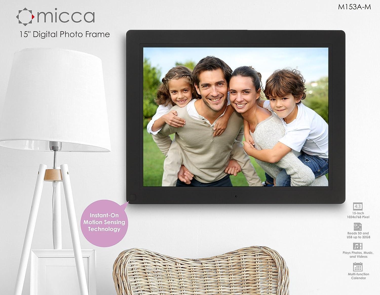 Amazon.com : Micca NEO 15-Inch Digital Photo Frame with 8GB Storage ...