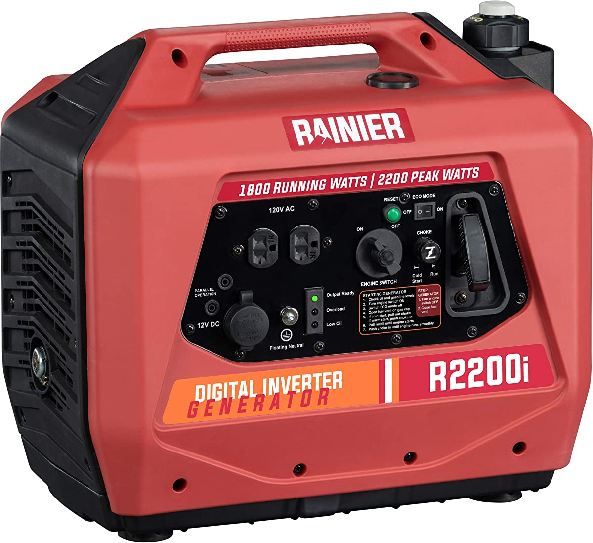 Gasoline powered super quiet portable generator