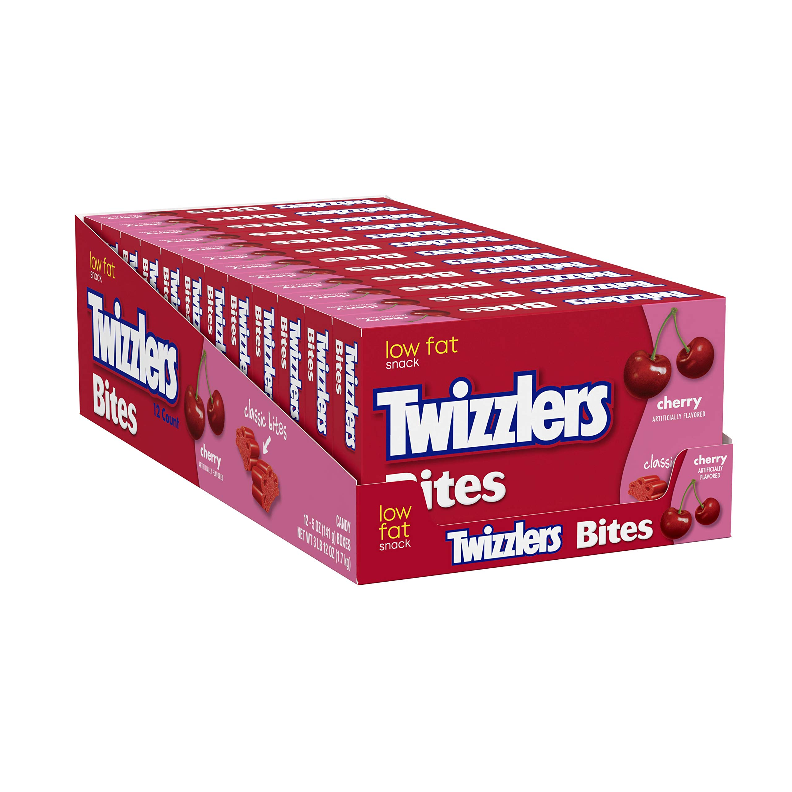 TWIZZLERS Licorice Candy, Cherry, Bites, 5 Ounce (Pack of 12) by Twizzlers