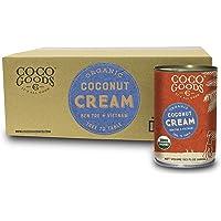 CocoGoodsCo Vietnam Single-Origin Organic Coconut Cream 13.5 fl. oz - Gluten-free, Non-GMO, Vegan, & Dairy-free (Pack of 12)