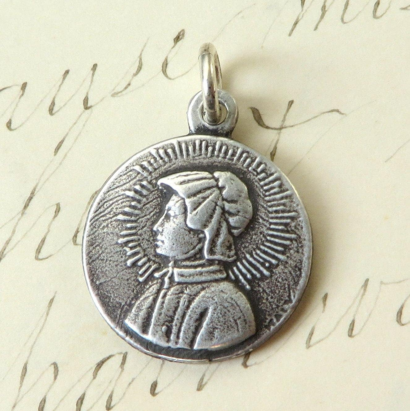 Sterling Silver St Elizabeth Seton Medal Vintage Reproduction Patron Catholic Schools
