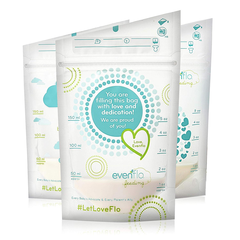 Evenflo Feeding Evenflo Feeding Advanced Breast Milk Storage Bags for Breastfeeding - 5 oz (100Count)