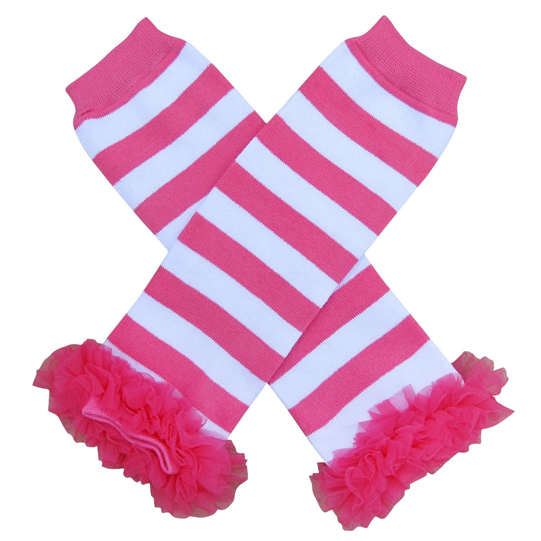 So Sydney Baby Toddler Girl Chevron & Stripe Tutu Chiffon Ruffle Leg Warmers CHCHEV-4