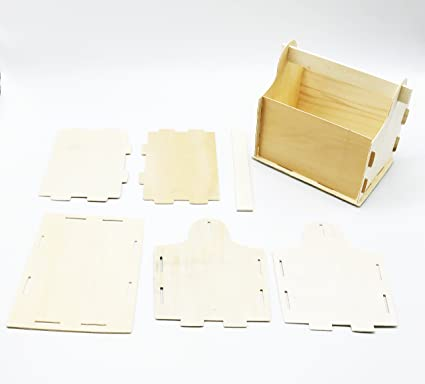 Pack of 2 DIY Make Your Own Wood Unfinished Tool Boxes Build and Decorate Color and Paint Yourself Kids Crafts Family Crafty Kids