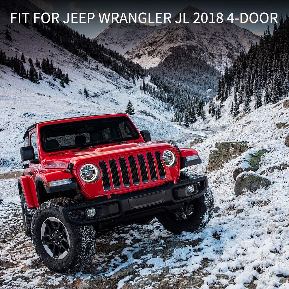 JL 4-Door Sill Entry Guards Sill Guards Matte Black FieryRed 2018 Jeep Wrangler Door Sill Guards